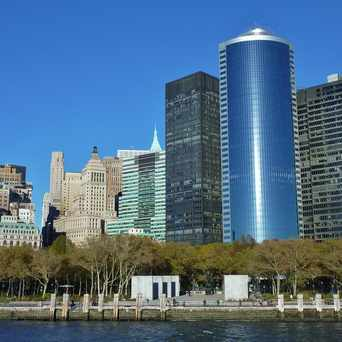 Photo of Battery Park from the Ferry in Financial District, New York