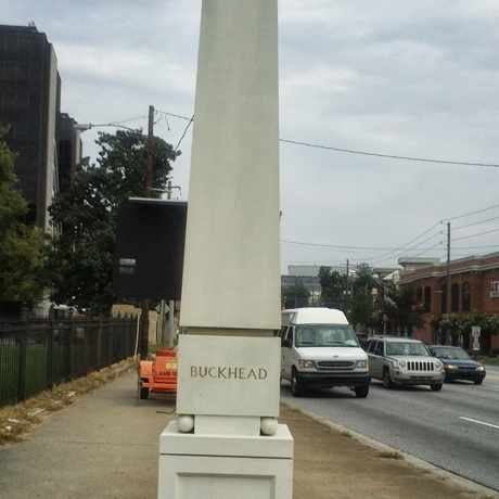 Photo of Buckhead Community Marker in Brookwood Hills, Atlanta