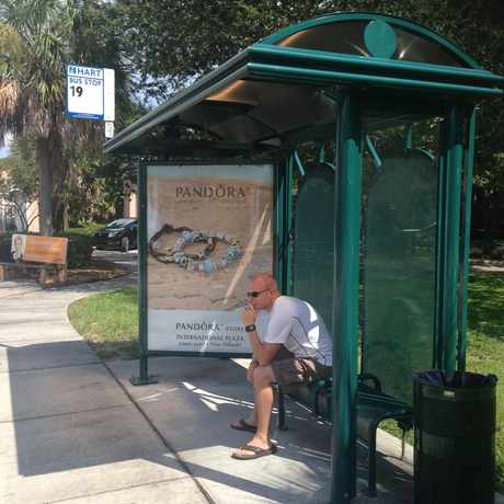 Photo of Covered #19 Bus Stop in Parkland Estates, Tampa
