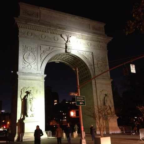 Photo of Washington square Park Arch in Greenwich Village, New York
