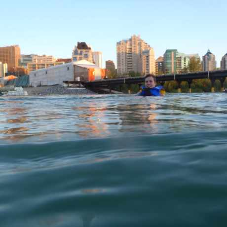 Photo of Bow River Swimming in Sunnyside, Calgary