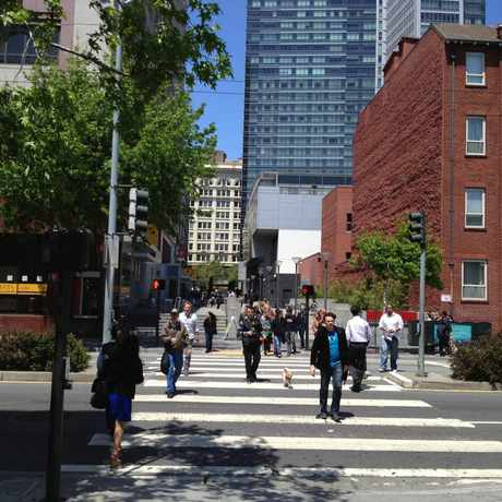 Photo of Yerba Buena Lane in South of Market, San Francisco