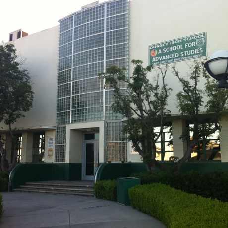 Photo of Susan Miller Dorsey Senior High School in West Adams, Los Angeles