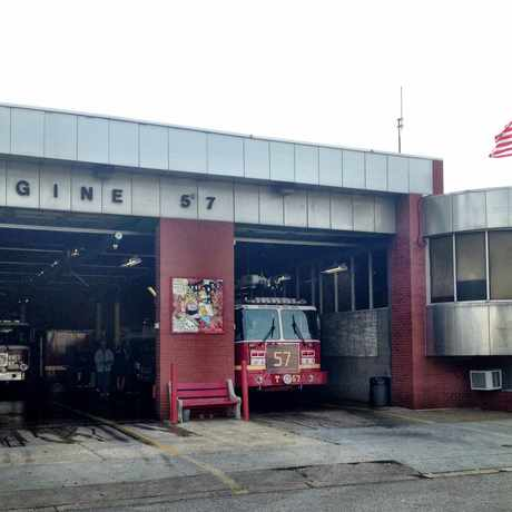 Photo of Engine 57 Fire House in Cobbs Creek, Philadelphia