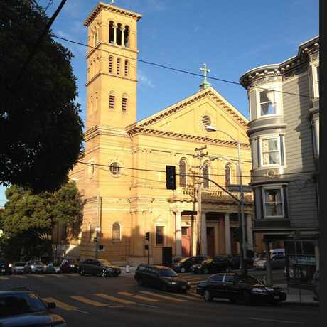 Photo of Fillmore street church in Western Addition, San Francisco