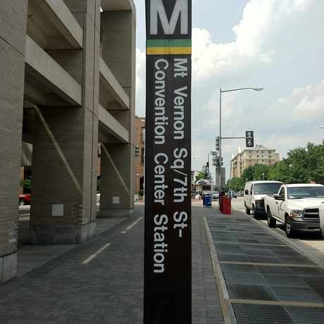 Photo of MT VERNON SQ/7TH ST-CONVENTION CENTER in Mount Vernon Square, Washington D.C.