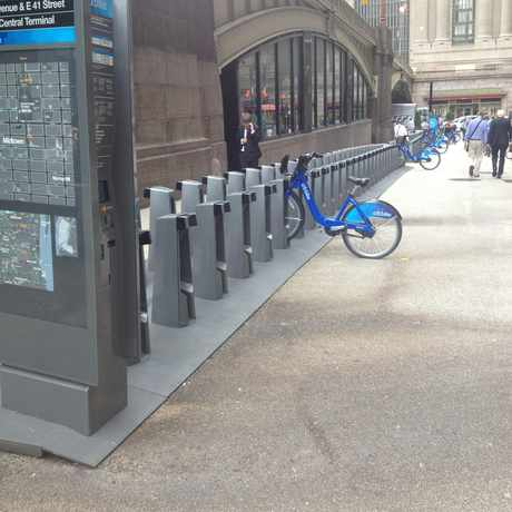 Photo of Citibike Station At 41st And Park Ave. in Midtown East, New York