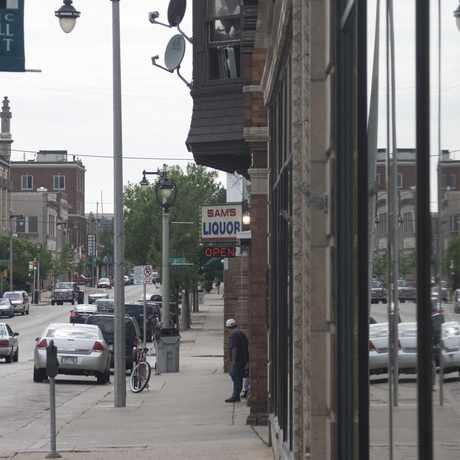 Photo of Sam's Liquor on Historic Mitchell St. in Kilbourn Town, Milwaukee