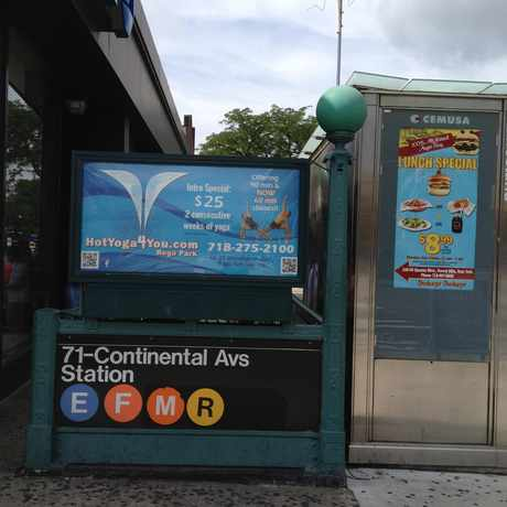 Photo of Continental Avenue subway stop in Forest Hills, New York