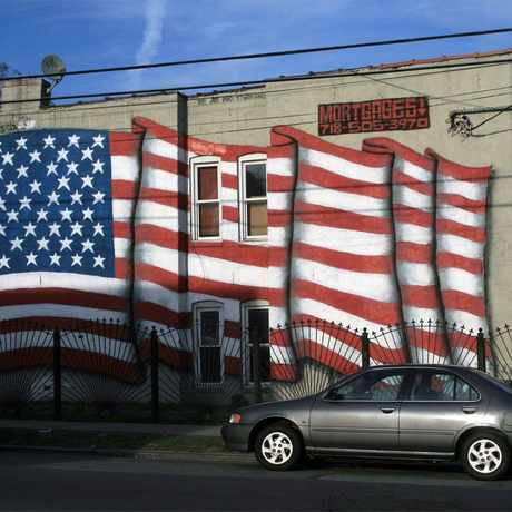 Photo of Flag Mural in Corona in Corona, New York