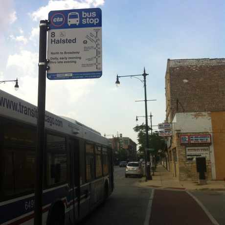 Photo of Halsted & 36th Street in Bridgeport, Chicago