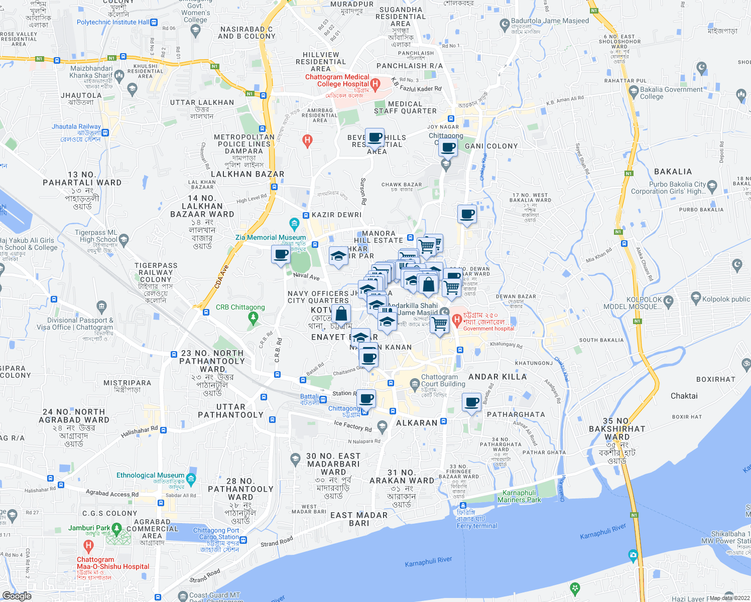 D C Hill Road Chittagong Chittagong Division Walk Score