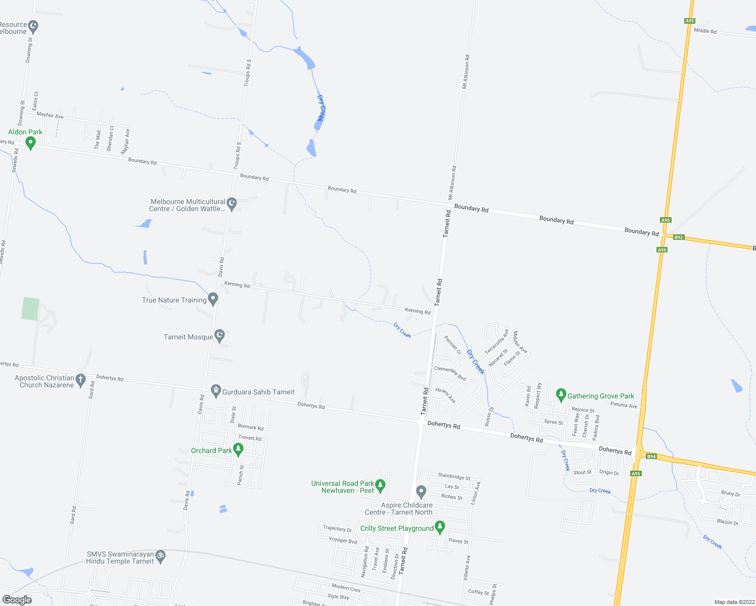 map of restaurants, bars, coffee shops, grocery stores, and more near 70 Kenning Road in Tarneit