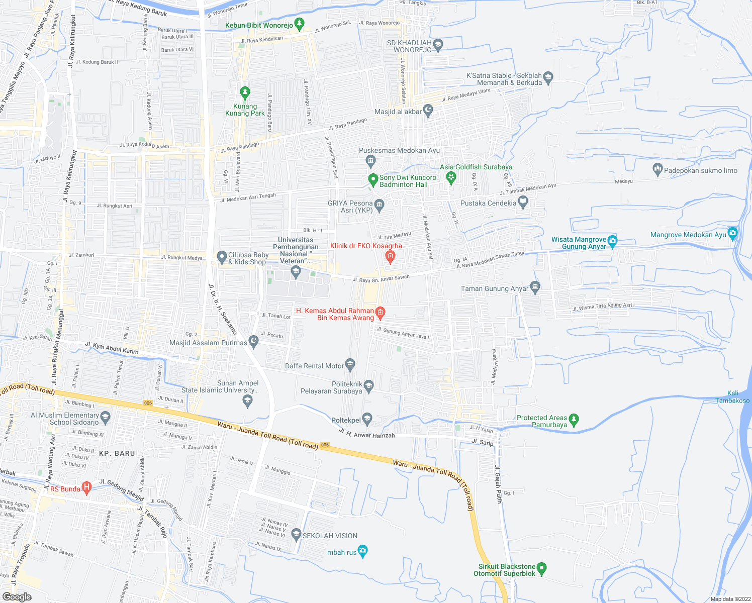 46 Jalan Raya Gunung Anyar Sawah Kota Surabaya Jawa Timur Walk