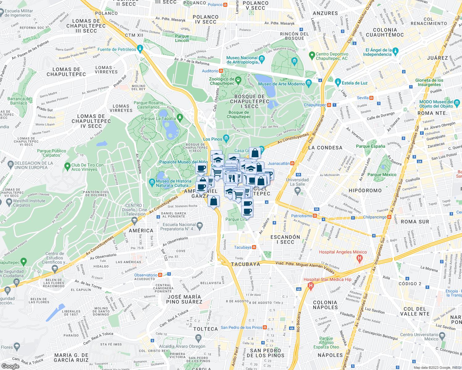 31 Parque Lira, Mexico City D.F. - Walk Score
