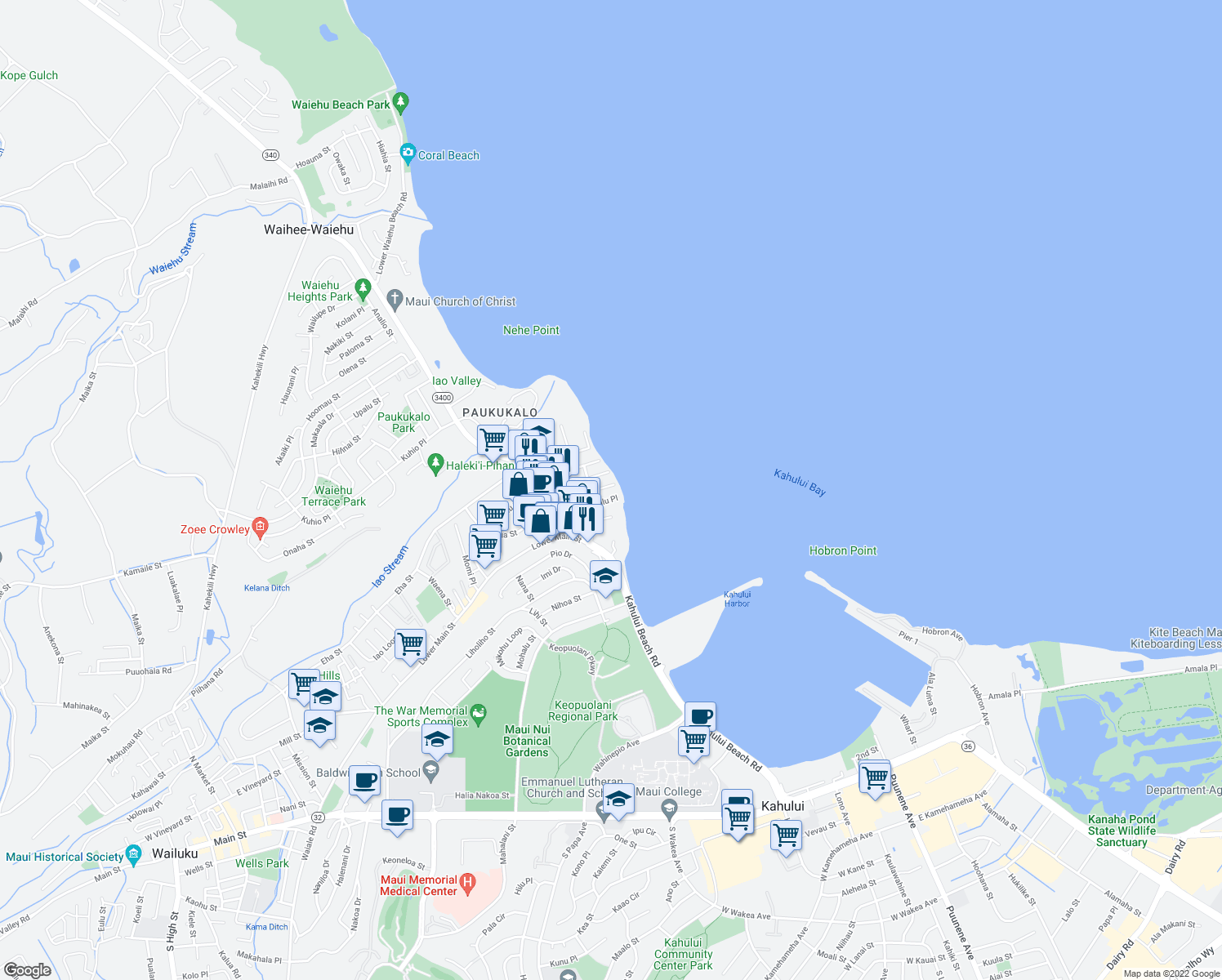 Linekona Place, Wailuku HI - Walk Score Wailuku Map