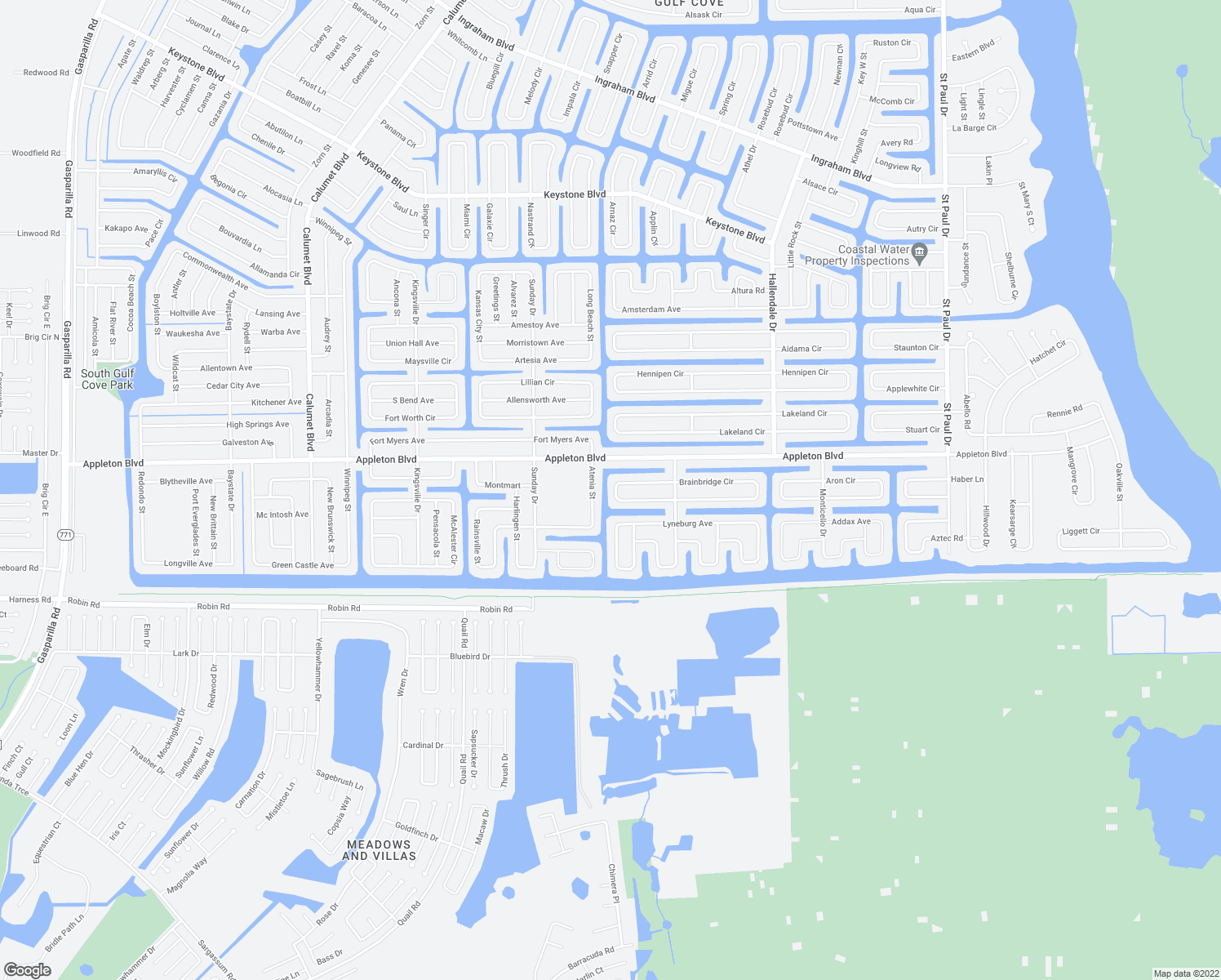 map of restaurants, bars, coffee shops, grocery stores, and more near 15156 Brainbridge Circle in Port Charlotte