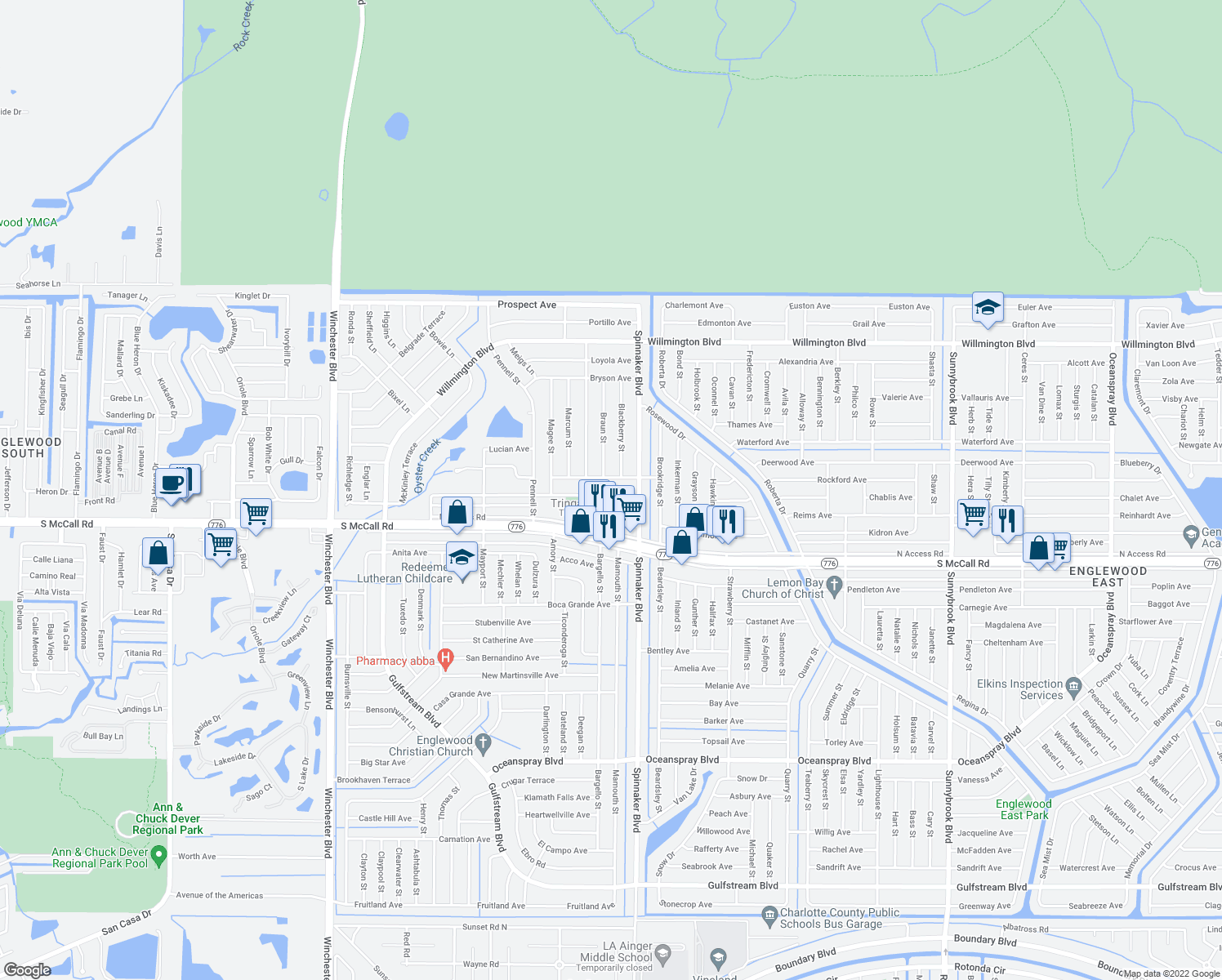 map of restaurants, bars, coffee shops, grocery stores, and more near 9482 Tacoma Avenue in Englewood