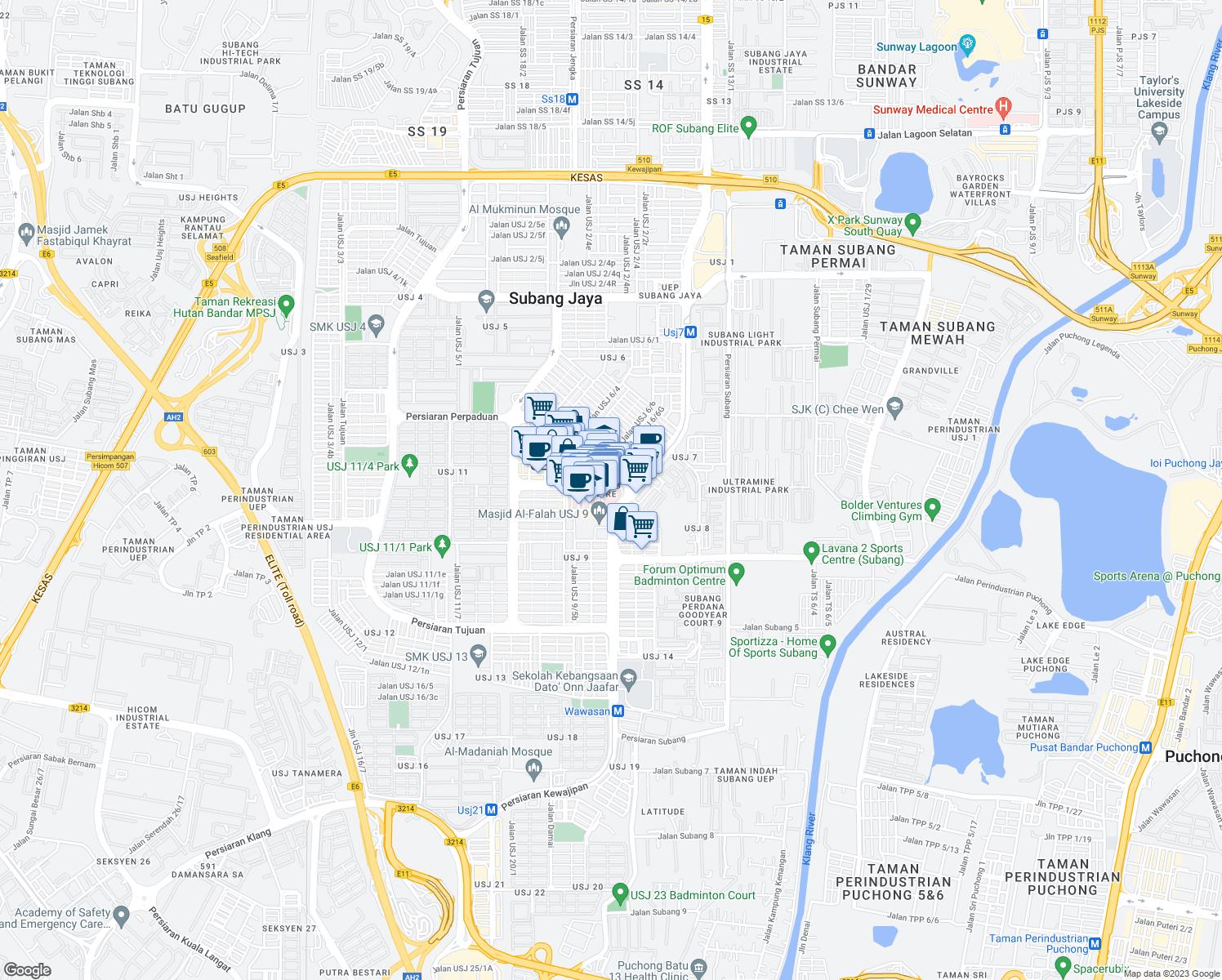 Jalan USJ Q Subang Jaya Selangor Walk Score - Location map of usj 16
