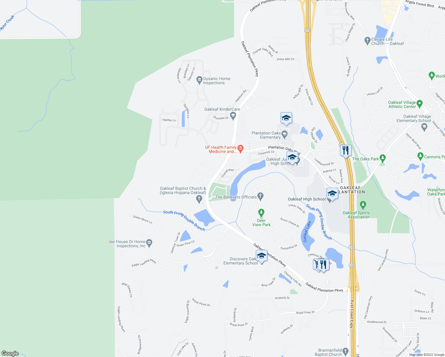 map of restaurants, bars, coffee shops, grocery stores, and more near 4030 Ivory Crossing in Middleburg