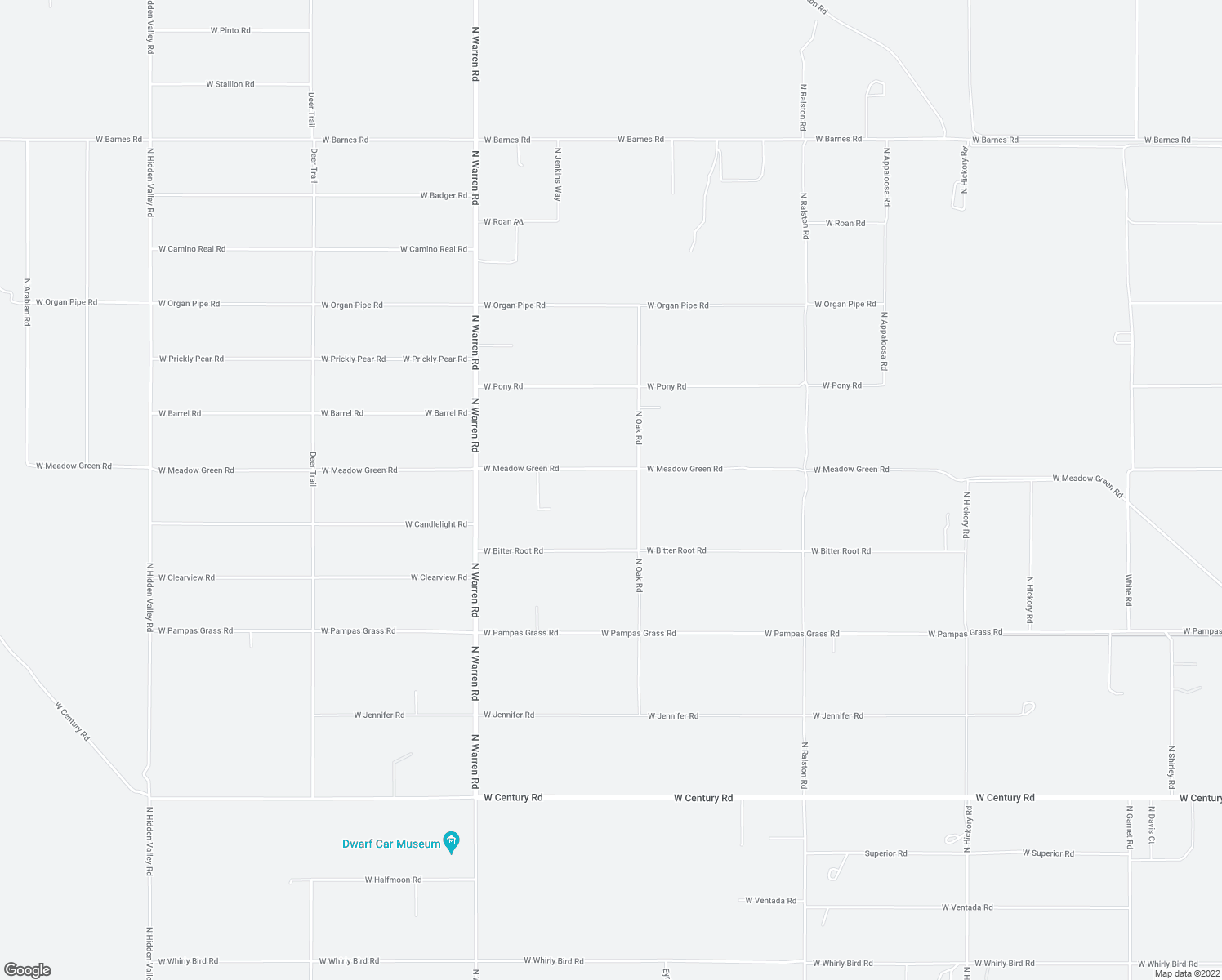 map of restaurants, bars, coffee shops, grocery stores, and more near 3560 North Oak Road in Maricopa