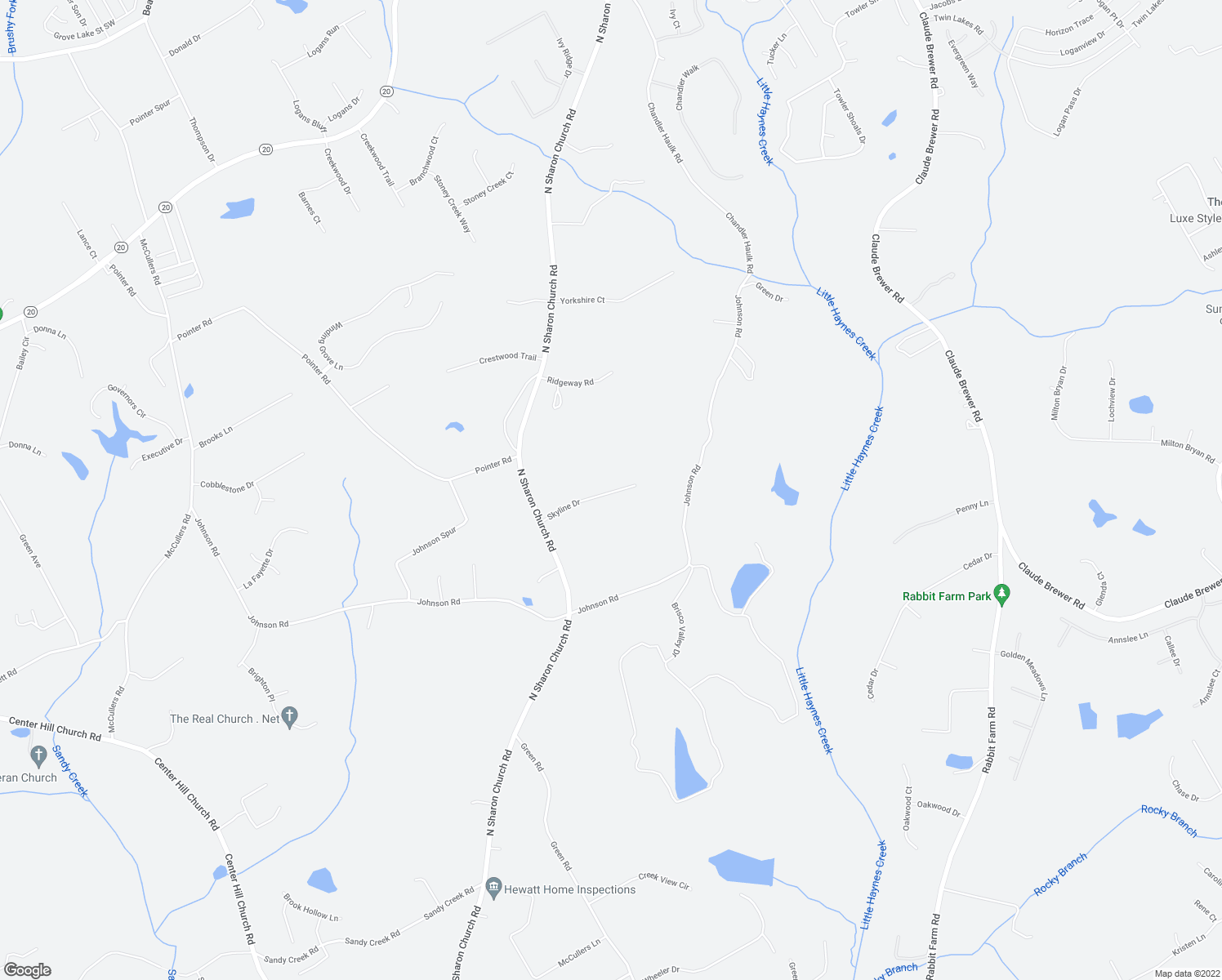 map of restaurants, bars, coffee shops, grocery stores, and more near 4953-5099 Skyline Drive in Loganville