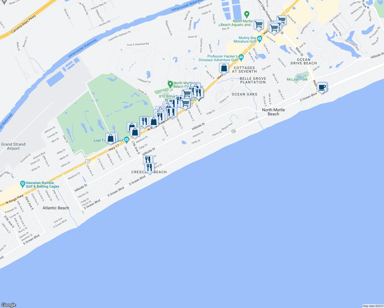 Restaurants Near  S Ocean Blvd Myrtle Beach Sc