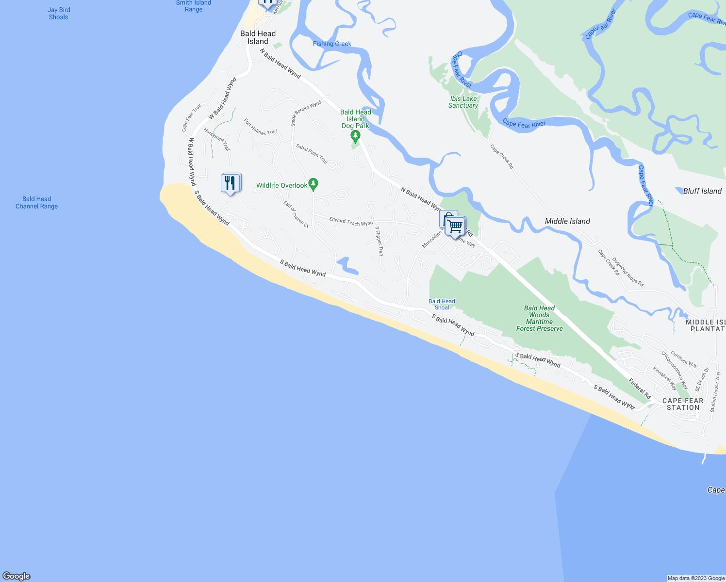 Bald Head Island Map Topsimages