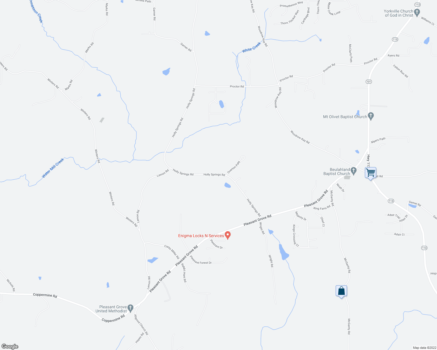 map of restaurants, bars, coffee shops, grocery stores, and more near 7309-7311 Holly Springs Road in Rockmart