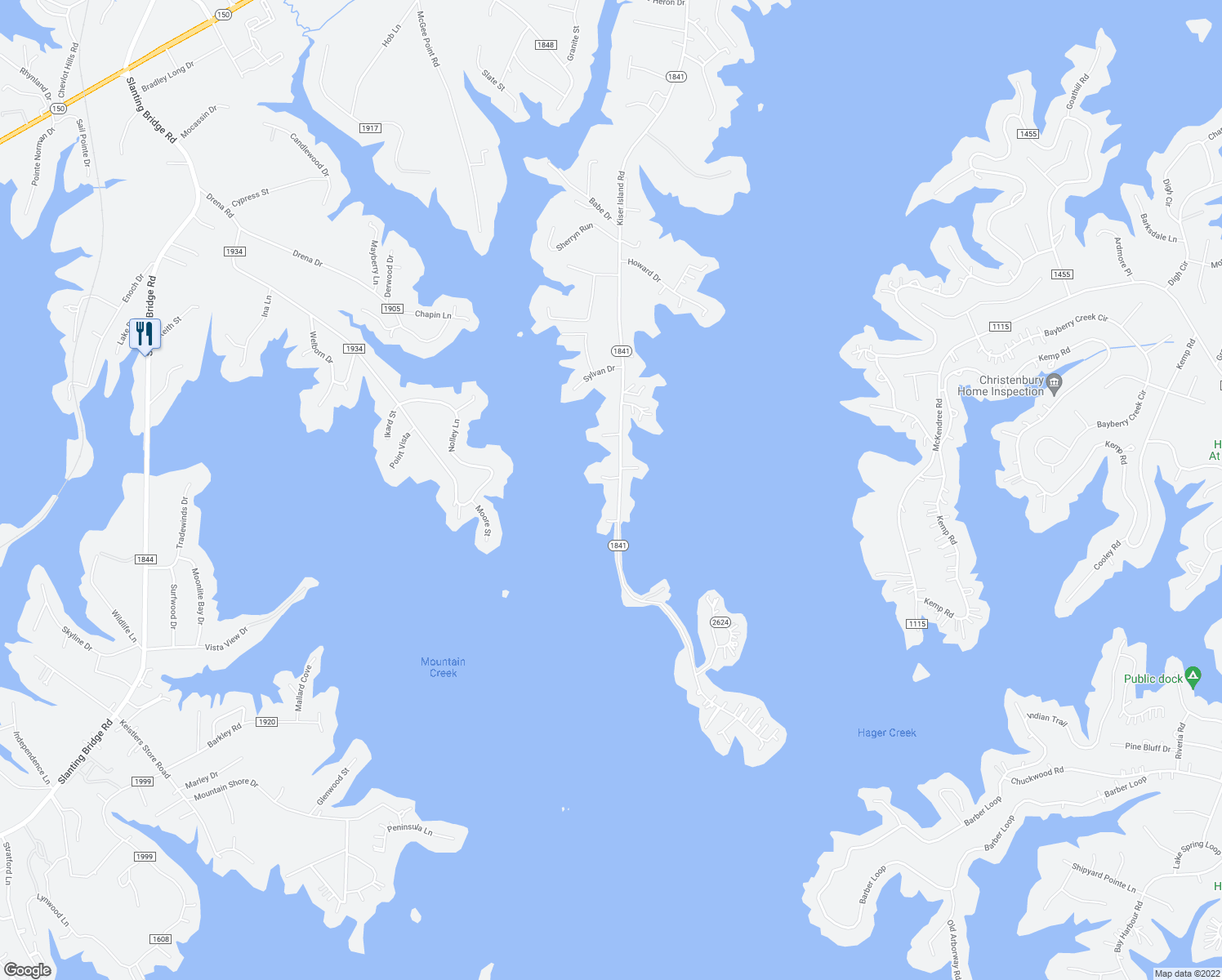 map of restaurants, bars, coffee shops, grocery stores, and more near 4683 Kiser Island Road in Lake Norman of Catawba