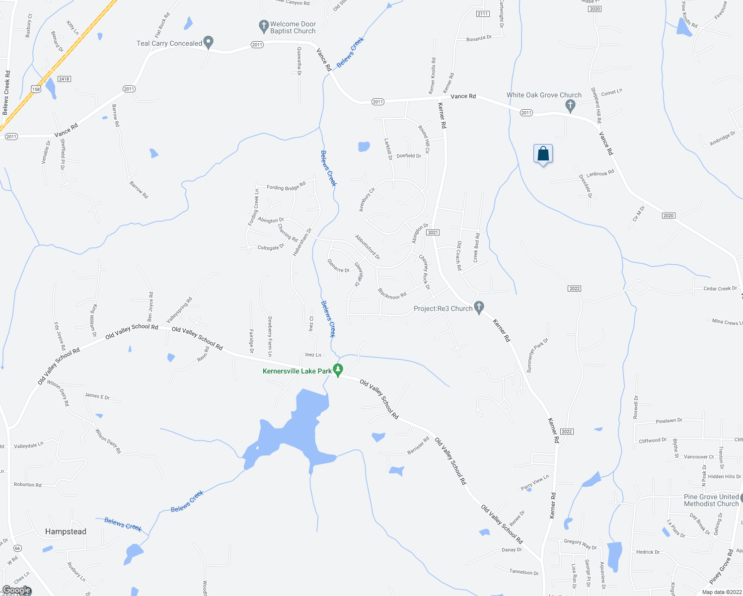 map of restaurants, bars, coffee shops, grocery stores, and more near 6125 Glenridge Court in Kernersville