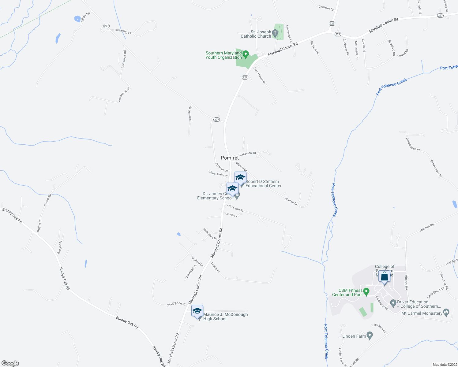 map of restaurants, bars, coffee shops, grocery stores, and more near 7780 Marshall Corner Road in Pomfret