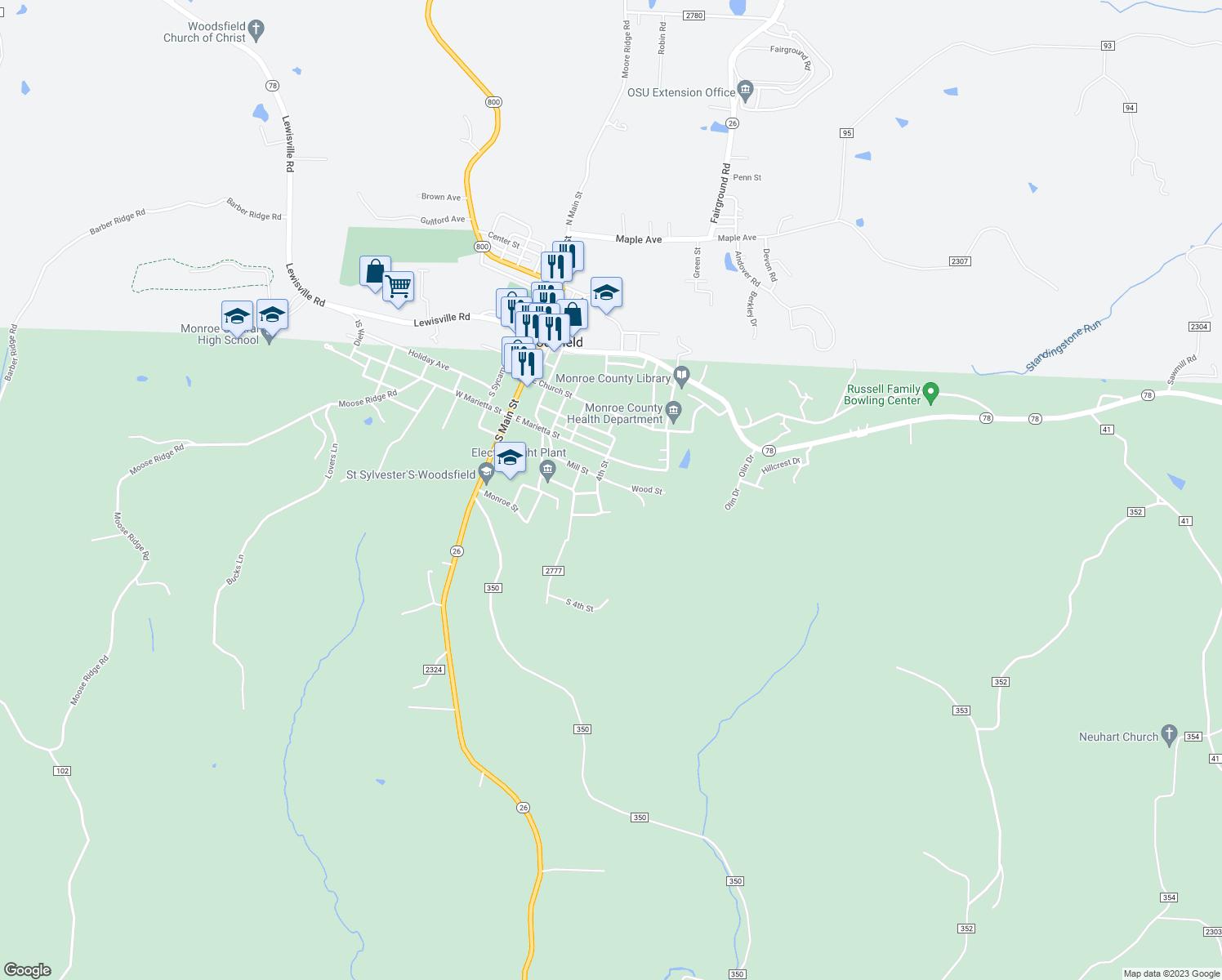 Woodsfield Ohio Map.501 Wood St Woodsfield Oh Walk Score