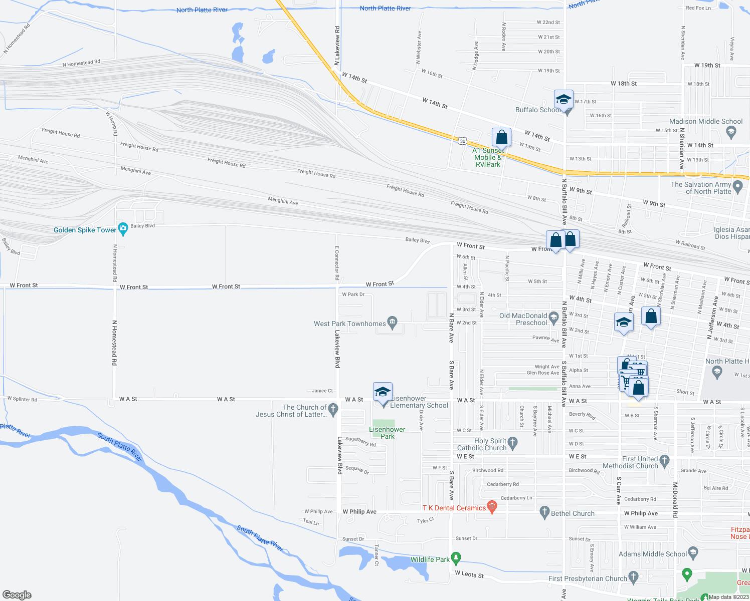 305 North Park Drive, North Platte NE - Walk Score