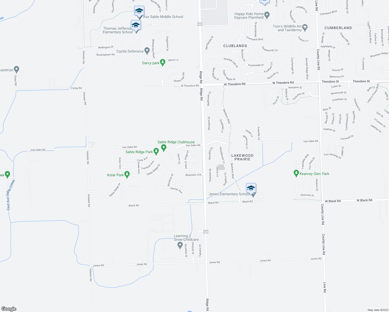 map of restaurants, bars, coffee shops, grocery stores, and more near 7909 Indigo Drive in Joliet