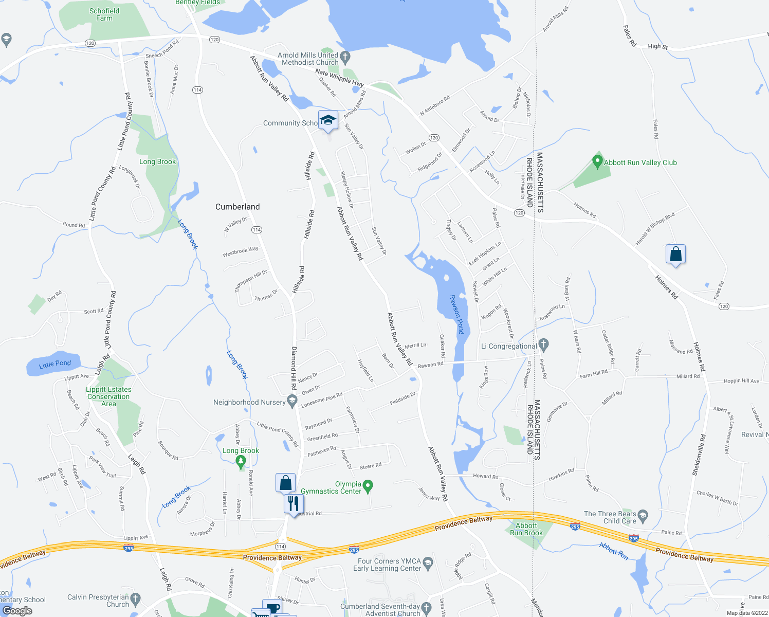 Map Of Restaurants Bars Coffee Shops Grocery Stores And More Near 142
