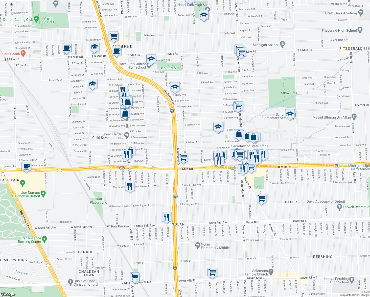 Restaurants Near  Mile And Hayes