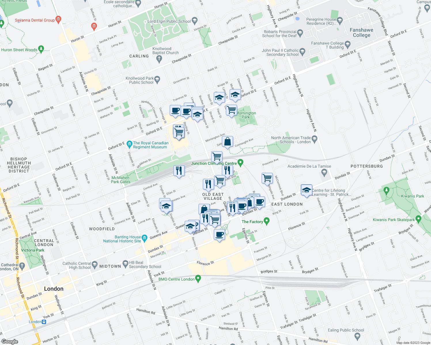 560 quebec street london on walk score