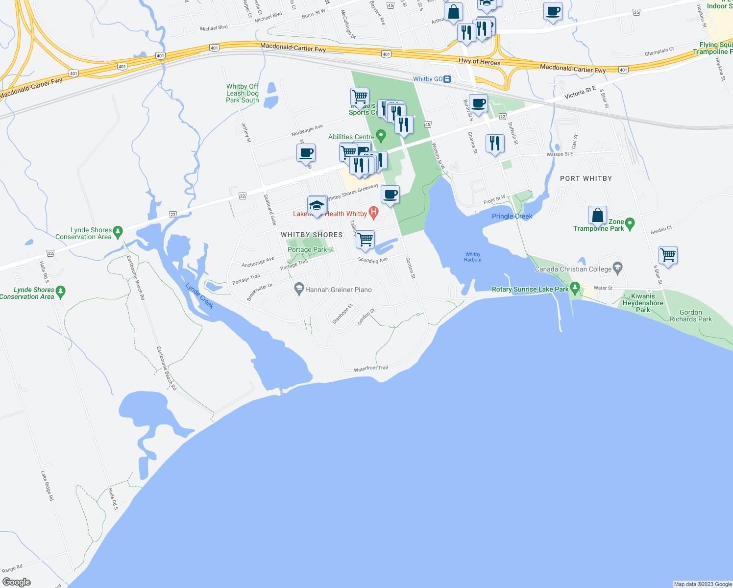 40 Harbourside Drive Whitby ON  Walk Score