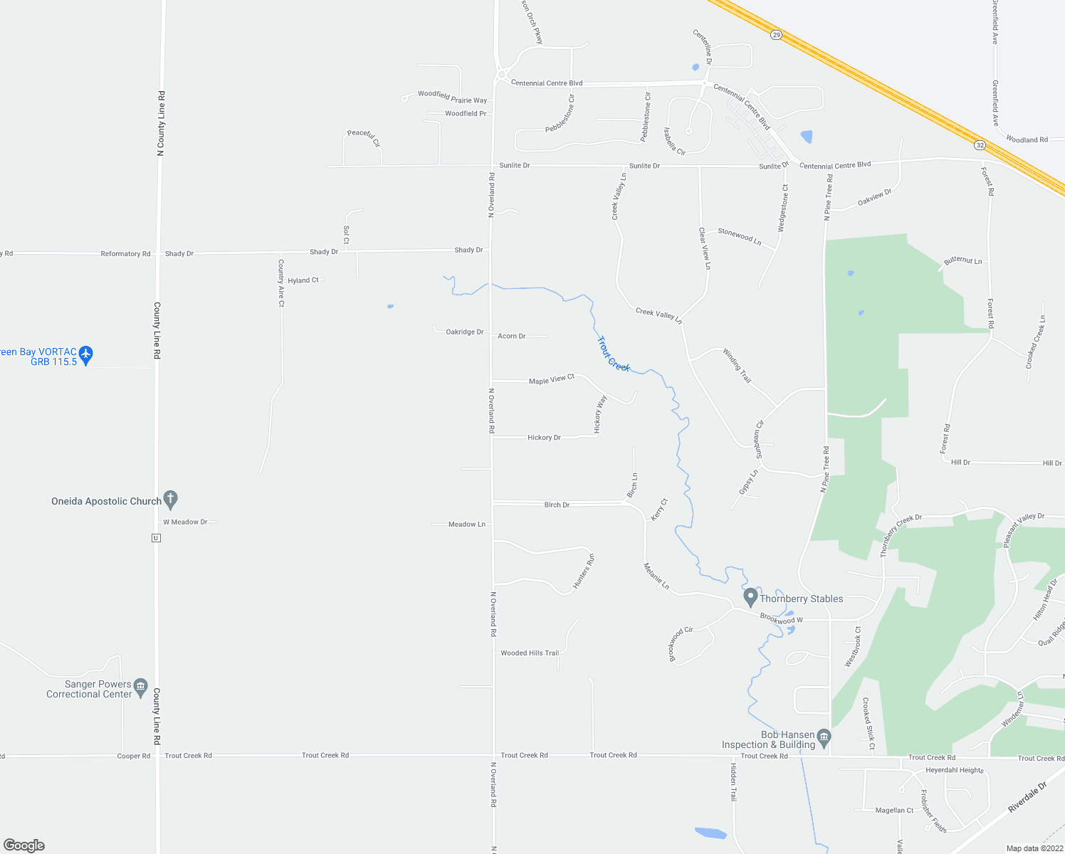 map of restaurants, bars, coffee shops, grocery stores, and more near 590 Hickory Drive in Oneida