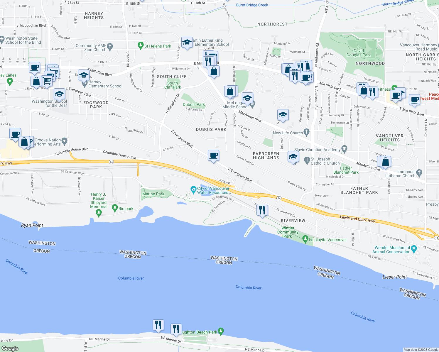 5585 East Evergreen Boulevard Vancouver Wa Walk Score