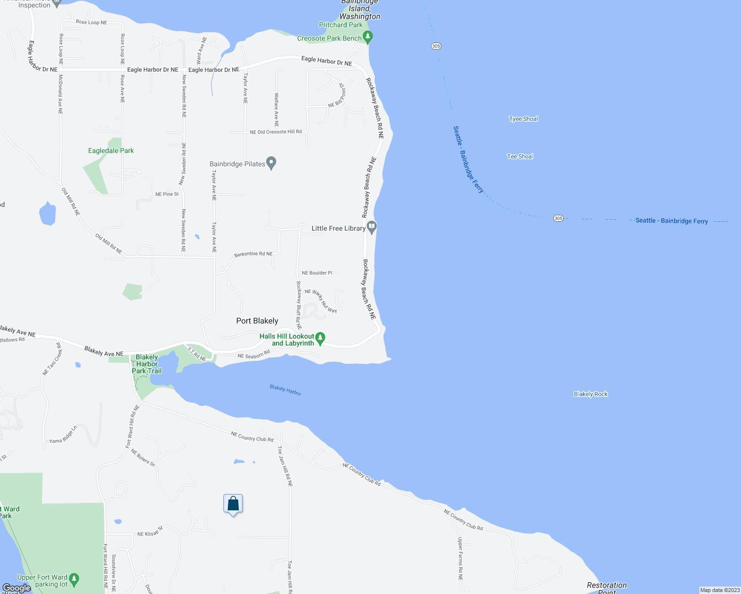 Map Of Downtown Bainbridge Island