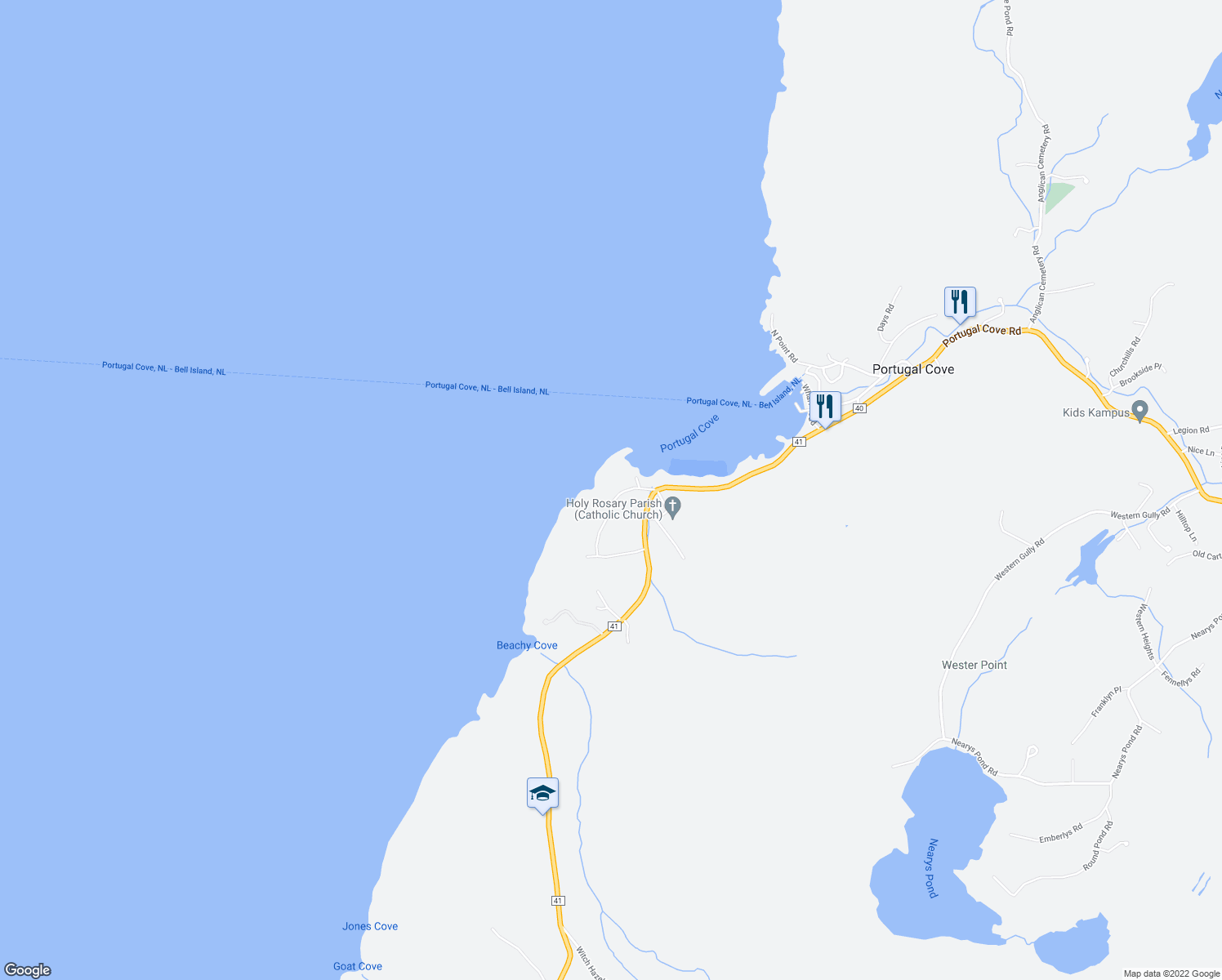 West Point Road Portugal CoveSt Philips NL Walk Score - Portugal cove nl map