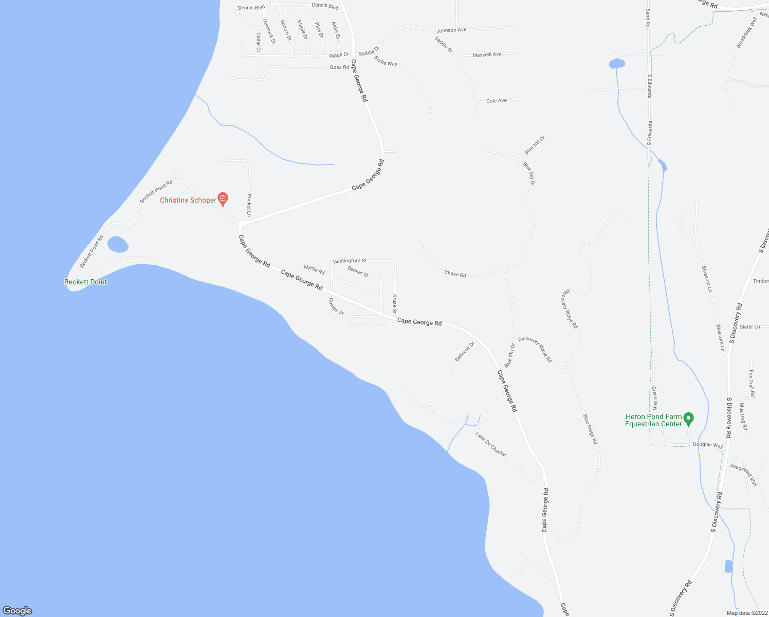 map of restaurants, bars, coffee shops, grocery stores, and more near 44 Swanson Avenue in Port Townsend