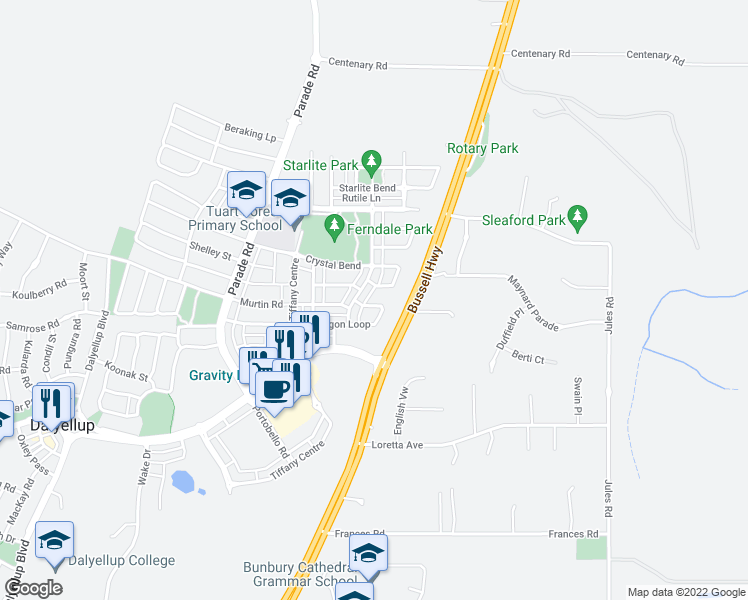 64 Paragon Loop Bunbury WA Walk Score