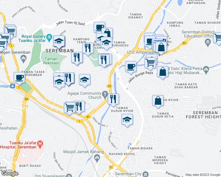 Jalan Dato Muda Linggi Seremban Negeri Sembilan Walk Score
