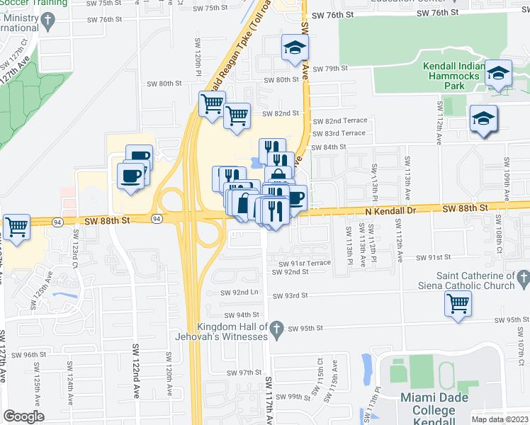 SW 88th St SW 117th Ave Kendall FL Walk Score