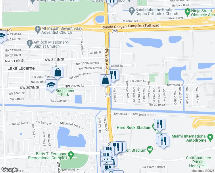 Northwest 27th Avenue Northwest 207th Street Miami Gardens FL