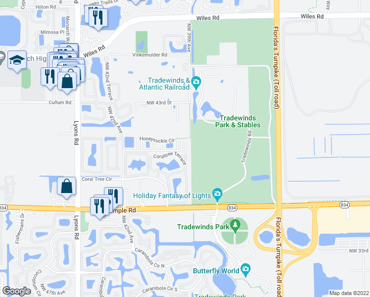 1540 Honeysuckle Circle Coconut Creek FL Walk Score
