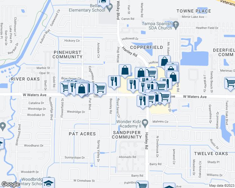 West Waters Avenue Wilsky Boulevard Town n Country FL Walk Score
